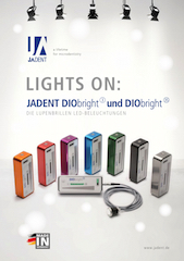 Broschüre zur Lupenbrillenbeleuchtung DIObright3