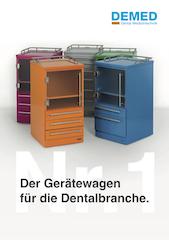 Broschüre DEMED Gerätewagen für die Dentalbranche